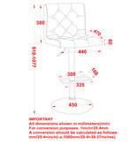 WHi Dex Air Lift Stool, White
