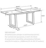 "!nspire Gavin Extension Dining Table (36"" x 63-78""), Black"