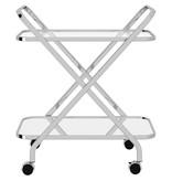 WHi Oriso 2 Tier Bar Cart, Chrome