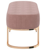 !nspire Zamora Bench, Dusty Rose and Gold