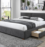 """!nspire Emilio King Size Bed (78""""), Charcoal"""