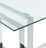 "!nspire Table à manger (36"" x 71""), argent, collection Eros"