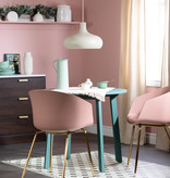 South Shore Flam Chair with Metal Legs, Pink and Gold