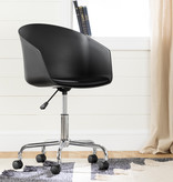 South Shore Flam Swivel Chair, Black