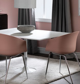 South Shore Flam Dining Chairs,  Set of 2, Pink and Silver