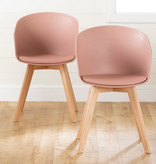 South Shore Flam Dining Chairs,  Set of 2, Pink