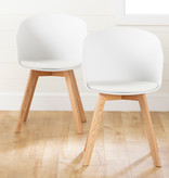 South Shore Flam Dining Chairs,  Set of 2, White