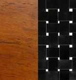 South Shore Fauteuil en cuir tressé Noir, collection Balka