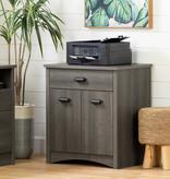 South Shore Gascony Printer Cabinet, Gray Maple
