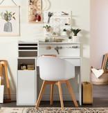 South Shore Crea Craft Table with Hutch, Pure White