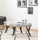 South Shore City Life Coffee Table, Concrete Gray and Black