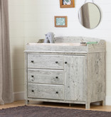 South Shore Cotton Candy Changing Table with Station, Seaside Pine
