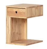 South Shore Table de chevet 1 tiroir en bois massif Bois naturel, collection Sweedi