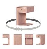 South Shore Table de chevet 1 tiroir en bois massif Bois Rose, collection Sweedi