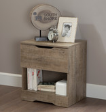 South Shore Holland 1, Drawer Nightstand, Weathered Oak