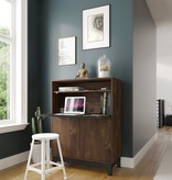 Nexera  Boss Secretary Desk, Truffle & Black