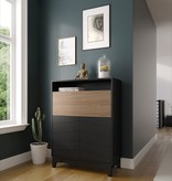 Nexera  Boss Secretary Desk, Nutmeg & Black