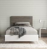 Nexera Canvas 3 Piece Twin Size Bedroom Set, Bark Grey and White
