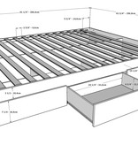 Nexera Balance 4 Piece Queen Size Bedroom Set, Bark Grey and White