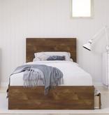 Nexera Dolce 3 Piece Twin Size Bedroom Set, Truffle and White