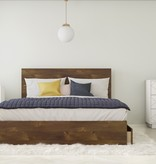 Nexera Dolce 3 Piece Queen Size Bedroom Set, Truffle and White