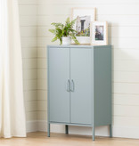 South Shore Crea Metal 2-Door Accent Cabinet, Pale Blue