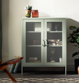 South Shore Crea Metal Mesh 2-Door Accent Cabinet, Sage Green