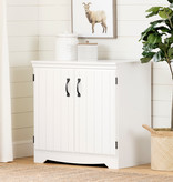 South Shore Farnel 2-Door Storage Cabinet, Pure White