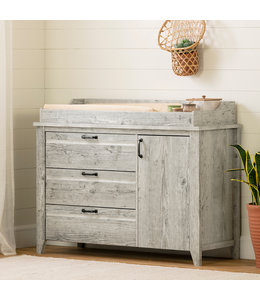 South Shore Lionel Changing Table with Drawers, Seaside Pine