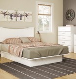 South Shore Gramercy 6-Drawer Double Dresser, Pure White