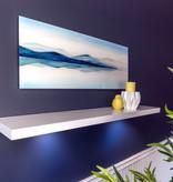 "Kieragrace Floating Shelf (47"") with DEL Light, White"