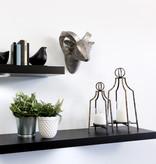 """Kieragrace Floating Shelf (35"""") with DEL Light, Black"""