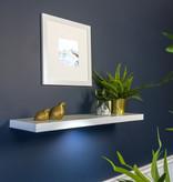"Kieragrace Floating Shelf (35"") with DEL Light, White"