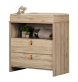 South Shore Balka Changing Table, Rustic Oak