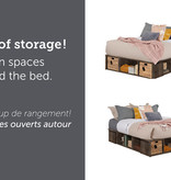 """South Shore Avilla Queen Size (60"""") Storage Bed with Baskets, Fall Oak"""