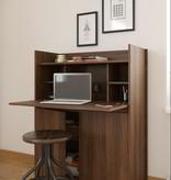 Nexera Chrono Secretary Desk, Walnut
