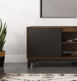 Nexera Arrow TV Stand, 63-inch, Black and Truffle