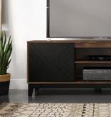 Nexera Arrow TV Stand, 72-inch, Black and Truffle