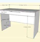 Nexera Arobas 2 pcs Home Office Set, Bark Grey