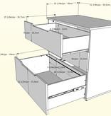 Nexera Arobas 2 pcs Home Office Set, Nutmeg