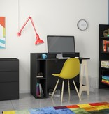 Nexera Atypik 3 pcs Home Office Set, Black and Russian Birch