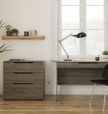 Nexera Arobas 3-Drawer Storage and Filing Cabinet, Bark Grey