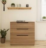 Nexera Arobas 3-Drawer Storage and Filing Cabinet, Nutmeg