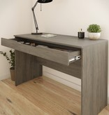 Nexera Arobas Desk with Drawer, Bark Grey