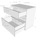 Nexera Atypik 3-Drawer Storage and Filing Cabinet, White