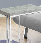 Monarch Aaccent Table , Grey Cement and Chrome Metal
