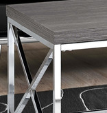 """Monarch Coffee table 44""""L, grey with chrome metal"""