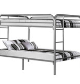 Monarch BUNK BED – FULL / FULL SIZE / SILVER METAL
