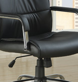 Monarch OFFICE CHAIR - BLACK LEATHER-LOOK FABRIC