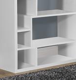 """Monarch Bookcase 72"""" White"""